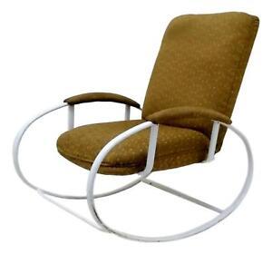 sedia a dondolo anni 70 design renato zevi rocking chair vintage