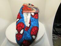 Marvel Spiderman Fuzzy Babba Slipper Socks size 2T - 3T Fuzzy Lined - Kids