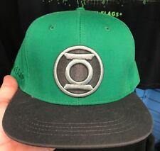 Six Flags Magic Mountain DC Comics Green Lantern Gray Lip Snapback Hat New