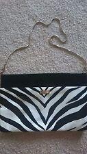 Kate Spade New York Zebra Patent Leather Clutch Shoulder Bag