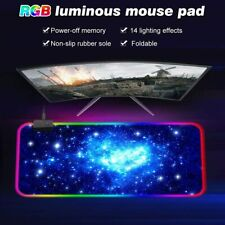 More details for wired rgb colorful led lighting gaming mouse pad mat 800*300mm for pc laptop hot