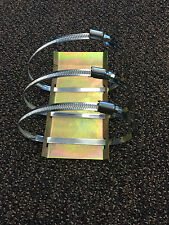 Universal header skid plate shield protect header from dent slammed lowered cars