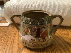 1911 Buffalo Pottery Emerald Deldare ware Dr. Syntax Sugar bowl