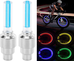 Wheel Tire Valve Cap LED Lights Waterproof Light for Car Bicycle Moto 2pcs UK