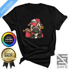 Gangsta Pug T Shirt Funny Dog Novelty Gift Tee Mens Womens Gucci Joke Pug Lover
