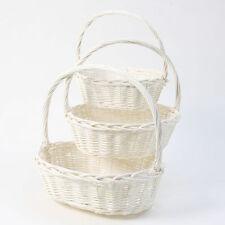 Unbranded Wicker Home Storage Baskets with Handles