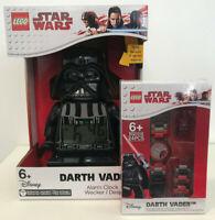 LEGO Star Wars Darth Vader Minifigure alarm clock and Minifigure link watch