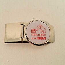 Barlow RCA Nipper Money Clip Chrome Strike It Rich Vintage Rare Vinyl