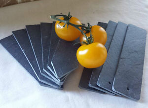 10 x Hand Made slate markers, labels seeds vegetables flowers bushes greenhouse.