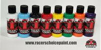 Airbrush Paint Opaque 8 Bottle Set Racers Choice