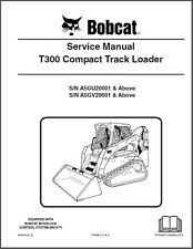 Bobcat T300 Compact Track Loader Service Manual on a CD