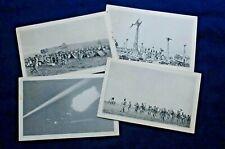 Lot of 4 Rppcs, 213th Coast Artillery Corps A.A., Pa Nat. Guard, 1930's