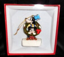 "EXC 1981 Schmid Xmas. ""Happy Holidays"" Ornament Goofy Mickey Mouse - Org. Box"