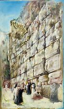 GRETTY RUBINSTEIN Israel Israeli Oil Painting Jewish Art Western Wall Jerusalem