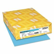 Neenah Astrobrights Colored Paper, 24lb, 8 1/2 x 11, Lunar Blue, 500 Sheets/Ream