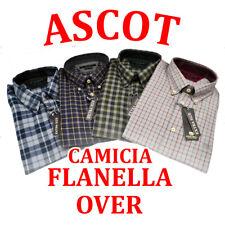 CAMICIA FLANELLA MANICA LUNGA UOMO ASCOT CALIBRATA 3XL/6XL ASCOT SPORT 15484-564