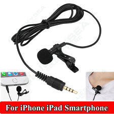 3.5mm Jack Clip-on Lapel Mini Lavalier Microphone Mic For IPhone SmartPhone NEW