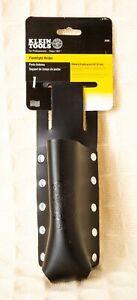 FLASHLIGHT HOLDER Klein Tools PORTA LINTERNA Riveted Leather Black Fits On Belt