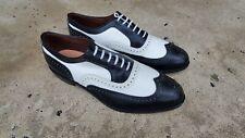 Allen Edmonds Broadstreet Black White Wingtip Spectator Oxfords Men's Size 12 D