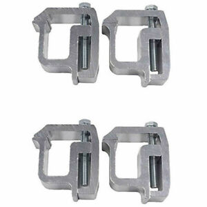 4x Truck Clamps for Mounting Caps Camper Shell Topper Canopy Heavy Duty Aluminum