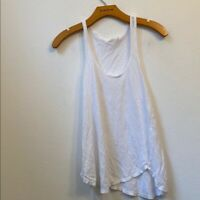 Zara Small Solid White Tank Top