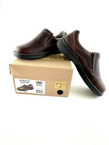 Red Head Brand Co Marston Brown Leather Slip-On Moc Shoes Mens Size 9W Wide NWB