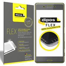 3x Sony Xperia X Schutzfolie, 100% Displayabdeckung, dipos Flex Folie
