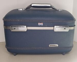Vintage American Tourister Blue Train Luggage Case