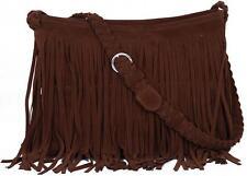 Women Handbag Celebrity Tassel Suede Fringe Shoulder Messenger Bag