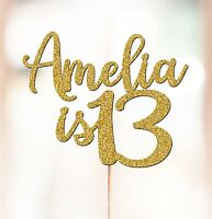 Personalised 13th Birthday Cake Topper Decorations ANY NAME AGE 7th 10th P1390