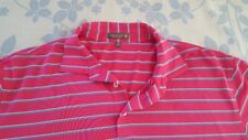 mens Peter Millar Summer Comfort short sleeve poly/spandex polo size XL striped