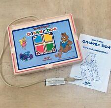 Worlds of Wonder Teddy Ruxpin Answer Box + Care Instruction Manual