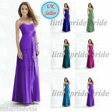 A-Line/Princess Full-Length Chiffon Evening Prom Bridesmaid Dress size 6-22 JS18