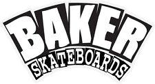 BAKER SKATEBOARDS ARCH STICKER BLACK WHITE NEW - SKATE REYNOLDS FREE POST