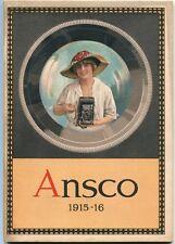 Ansco: The Amateur Camera Professional Quality 1915 1st Ed. SC Book