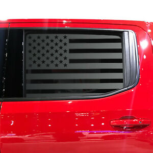 USA Flag Decal fits Crew Cab window 2020 Chevy Silverado GMC Sierra QR1-CT5