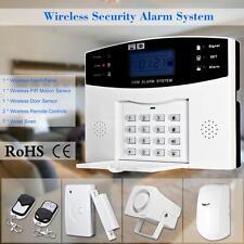 Wireless GSM SMS Burglar Alarm System PIR Detector Sensor Kit Home Security J5K5