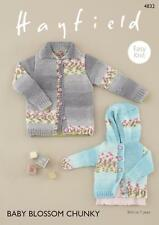 Hayfield Easy Knit Baby Blossom Chunky Cardigans Pattern 4832 Birth to 7 Years