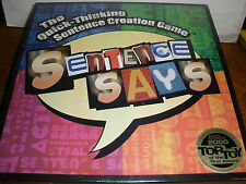 NEW 2005 Top Toy of the year award Sentence Says Quick Thinking Game 2005