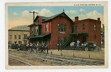 B&O RR Station—Keyser WV Rare Antique Train Depot Railroad ca. 1910s
