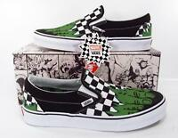 Vans x Marvel Avengers Incredible Hulk Checkerboard Classic Slip On Sneakers