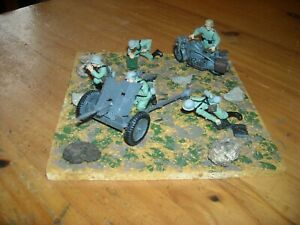 1:35 Built German WW2 3.7cm Pak 36 Anti Tank Gun with crew