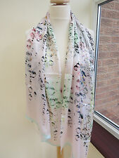 Ted Baker Crystal Droplets Long Silk Scarf Shawl - VERY PRETTY!! second