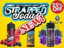 STRAPPED E Liquid 100 SODA POWERED VapeS Juice NEW ml SAVE £££