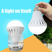 1Pc E27 Rechargeable LED Intelligent Lamp Emergency Light Bulb 5/7/9/12/15W New