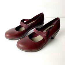 Merrell Evera Womens Mary Jane Burgundy Comfort Riding Heels, Size 7.5