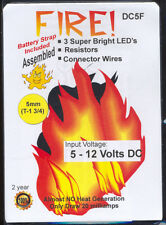 Dollhouse Mini Battery Operated 5mm Flashing Fire Kit Doll House Miniatures