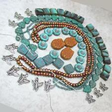 turquoise Leaves, Hibiscus, Squares and seed + Owls + Butterfly Collection