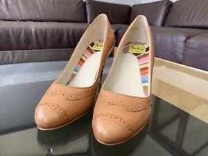 Brand New Paul Smith Evelyn Tan Resina Shoes Size UK3 EU36