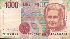 BANCONOTA ITALIANA DA 1000 LIRE MONTESSORI SERIE PE SC-7